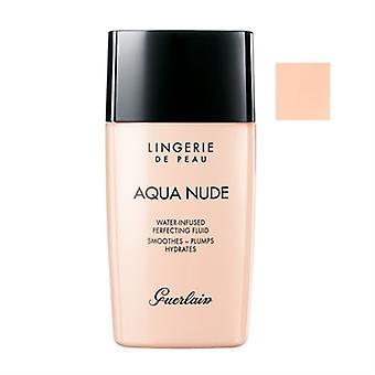 Guerlain Lingerie De Peau Aqua Nude Water-Infused Perfecting Fluid SPF 20 02C Light Cool 1.0oz / 30ml