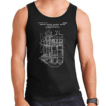 Ford Internal Combustion Engine Patent Blueprint Men's Vest