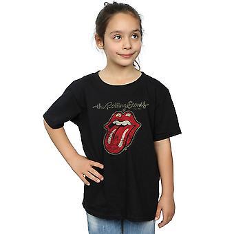 Rolling Stones Mädchen verputzt Zunge T-Shirt