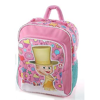 Mascha und der Bär Mini Schule Rucksack & im freien rosa