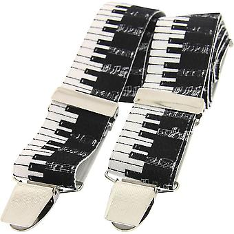 David Van Hagen Piano Key Braces - Black/White