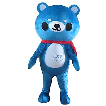 SPOTSOUND of blue and white Teddy bear mascot