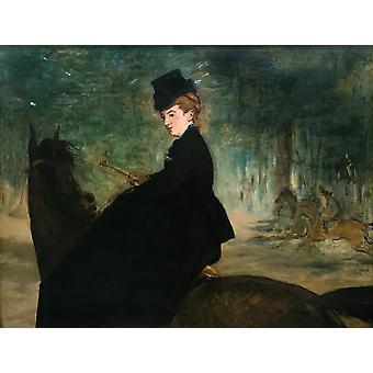 L ' amazone a cheval, Edouard Manet, 50x40cm