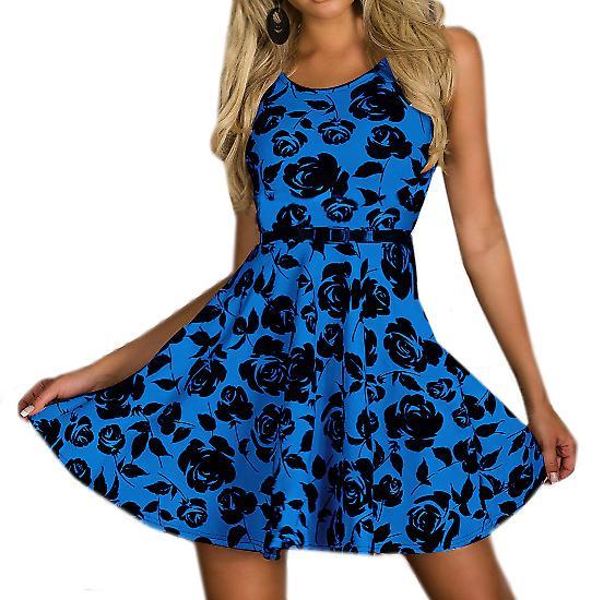 Waooh - Fashion - Skater Dress Rose Print