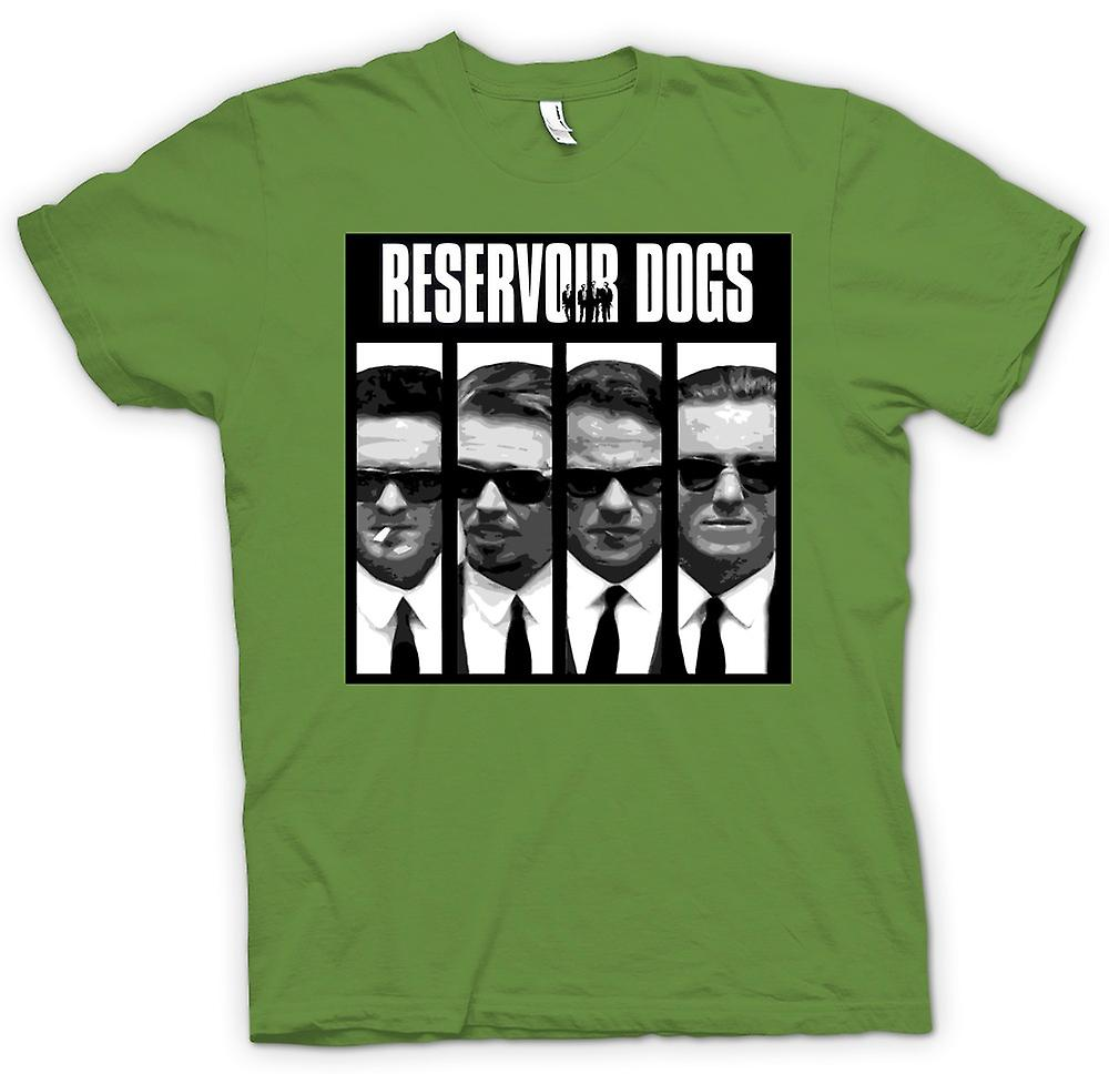 Herr T-shirt - Reservoir Dogs - Collage och ord