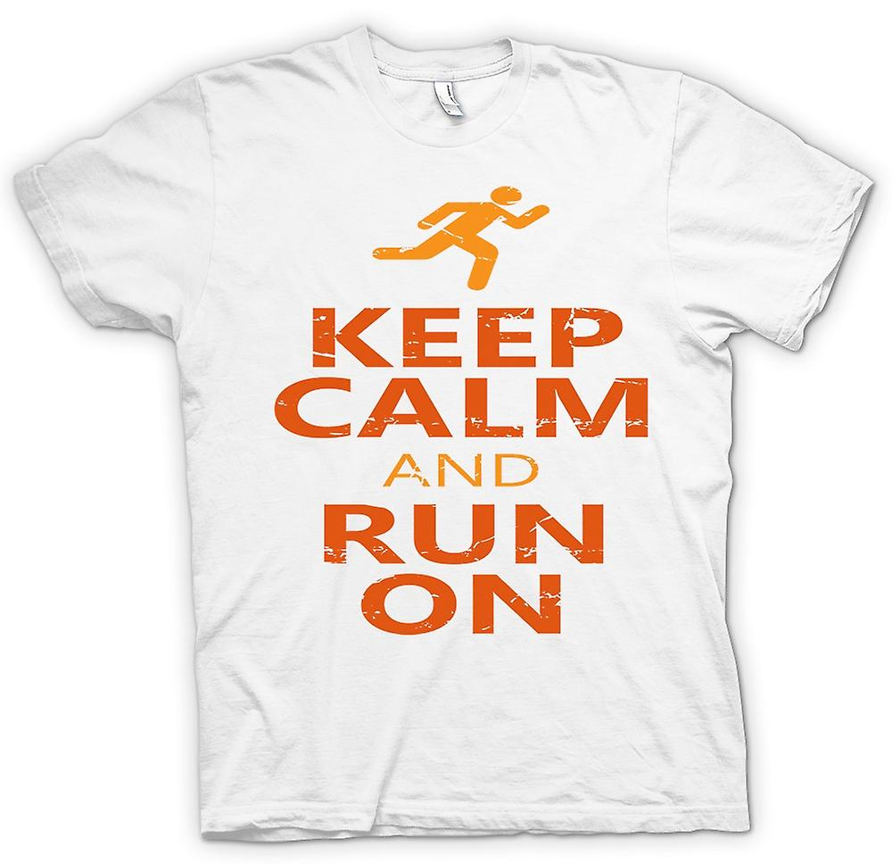 Mens T-shirt - Keep Calm And Run On - Cool Running