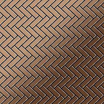 Metal mosaic Titanium ALLOY Herringbone-Ti-AB