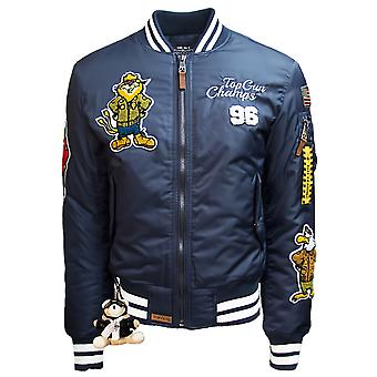 Top Gun Champs Bomber Jacket Navy Blue