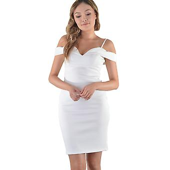 Lovemystyle Bardot Pencil Dress In White