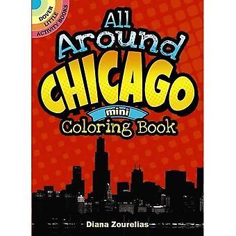 Runt Chicago Mini målarbok (Dover lite aktivitet böcker (Häftad))