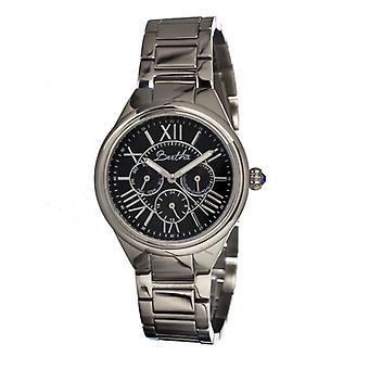 Bertha Rachel Ladies armband Watch w/dag/datum-Silver/svart