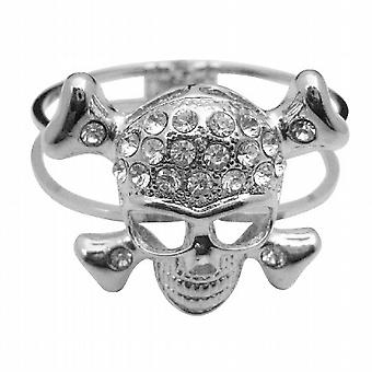 Skull Cuff Bracelet Simulated Diamond Skull Forehead Hip Hop Bracelet