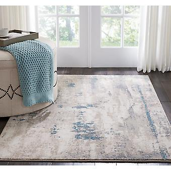 Maxell MAE17 Ivory Teal  Rectangle Rugs Modern Rugs