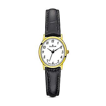 Dugena Watch Analog quartz ladies watch with leather 4460783