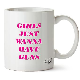 Hippowarehouse девушки просто хотят иметь оружие 10oz кружка Кубок
