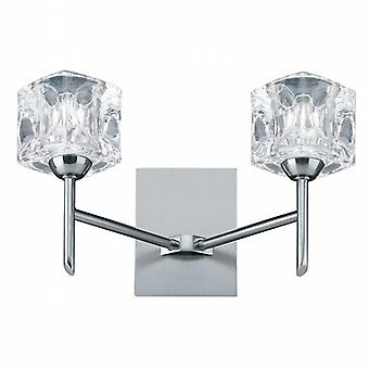 Searchlight Ice Cube 4342-2 Modern Wall Lights Double