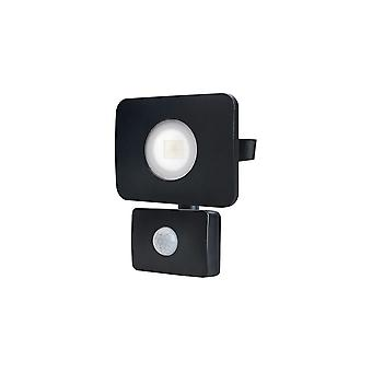 Integral - LED Floodlight 20W 3000K 1800lm PIR Sensor / Override Matt Black - ILFLC134POV