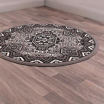 Kayo Circular Rugs In Grey By Rugstyle