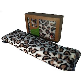 Deluxe Fleece Soothing Lavender Wheat Bag: Leopard
