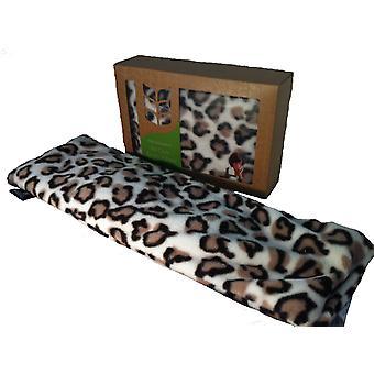 Deluxe Fleece beroligende lavendel hvede taske: Leopard