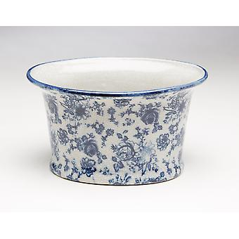AA Importing 59845 Blue And White Planter