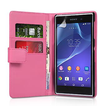 YouSave Sony Xperia Z2 LeatherEffect Wallet Case Hot Pink