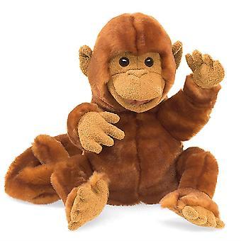 Hand Puppet - Folkmanis - Classic Monkey New Toys Soft Doll Plush 30924