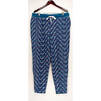 Cuddl Duds Lounge Pants, Sleep Shorts Fleecewear Stretch Novelty Blue A297368