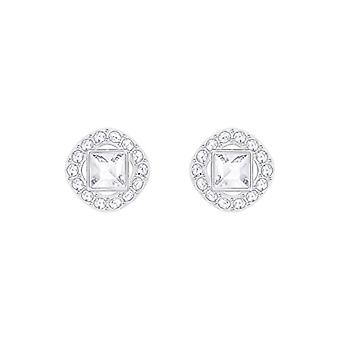 Swarovski Earrings Angelic Square - white - rhodio plating