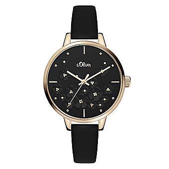 s.Oliver Quartz Women's Analog Clock with SO-3841-LQ Leather Belt