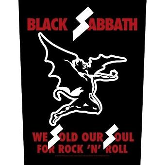 Black Sabbath We Sold Our Soul sew-on cloth backpatch 360mm x 300mm (rz)