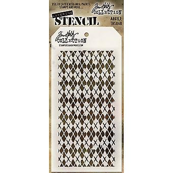 Tim Holtz couches pochoir 4.125 « X8.5 »-Argyle THS-048