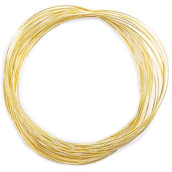 Gold Plated Memory Wire Oval Bracelet .35 Oz Pkg Approx 23 Loops 347A440