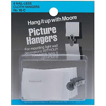 Nail Less Cloth Picture Hangers 6 Pkg 10 C