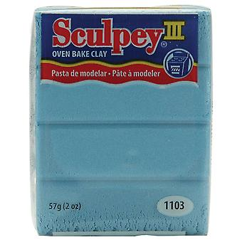 Sculpey Iii Polymer Clay 2 Ounces Light Blue Pearl S302 1103