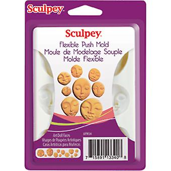 Sculpey Flexible Push Mold Art Doll Faces Apm 34
