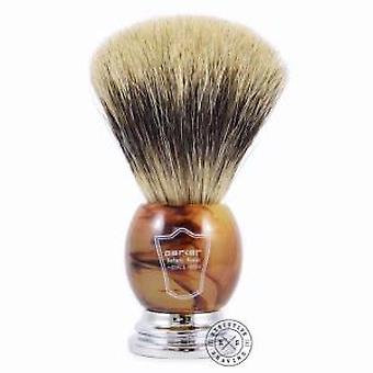 Parker HHPB Large Pure Badger Hair Shaving Brush Faux Horn