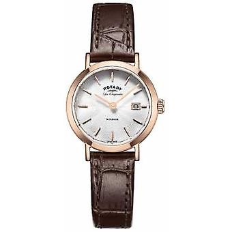 Rotary Womens Les Originales Windsor Brown Leather Strap LS90157/02 Watch