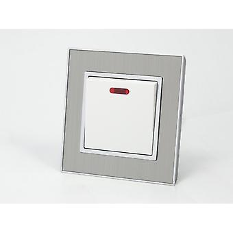 I LumoS AS Luxury Satin Silver Metal Single Switched 20A Switch