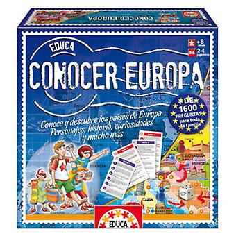 Educa Knowing Europe (Toys , Boardgames , Knowledge)