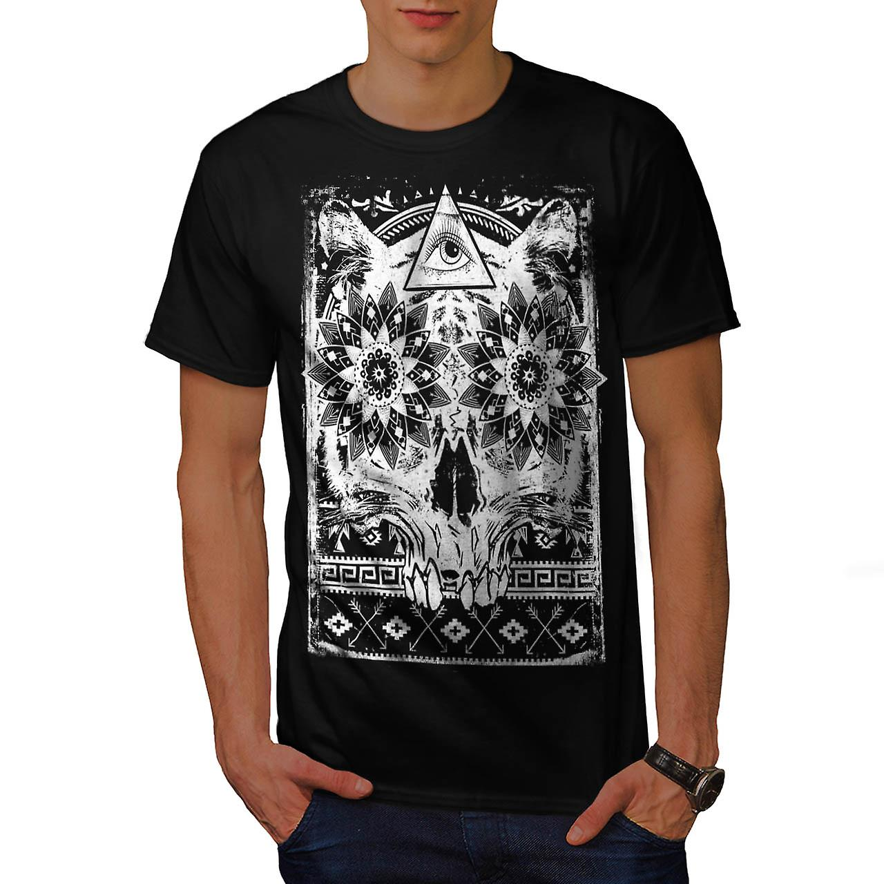 Secret Society Group Skull Beast Men Black T-shirt | Wellcoda