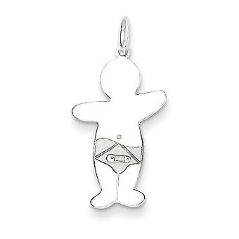 Charm in argento Sterling Baby Boy coccola -.6 grammi