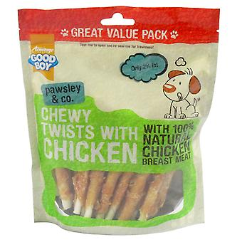 Good Boy Pawsley & Co Chewy Twists With Chicken 320g (Pack of 3)