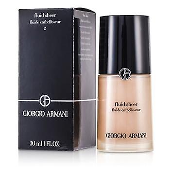 Giorgio Armani Fluid Sheer – # 2 schimmernden Beige - 30ml / 1oz