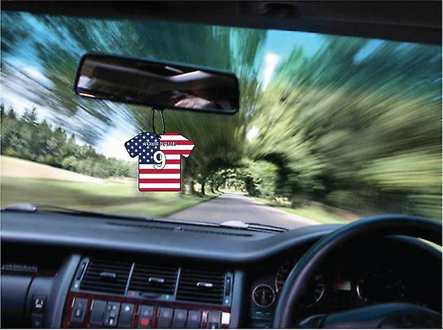 Personalised Usa Flag Jersey Car Air Freshener