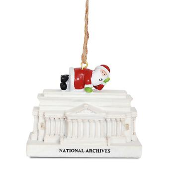 Santa på National Archives bygning Washington DC Christmas Holiday Ornament