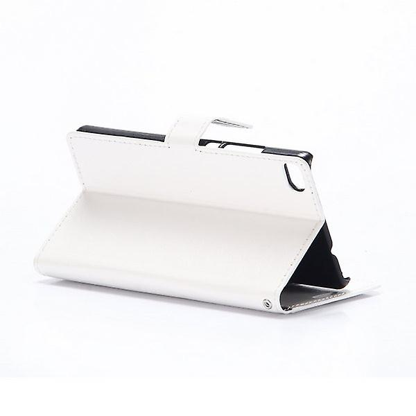 Pocket wallet premium white for Huawei Ascend P8