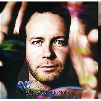 Matt Alber - skjule intet [CD] USA import