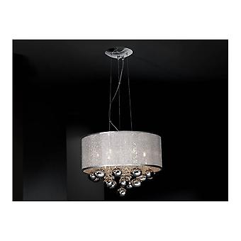 Schuller Andromeda 6 Light Chrome Drum Pendant