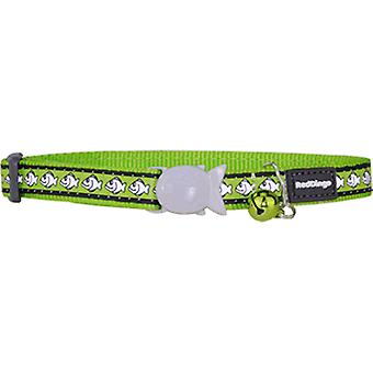 Red Dingo Reflective Cat Collar 12MM Lima 20-32Cm